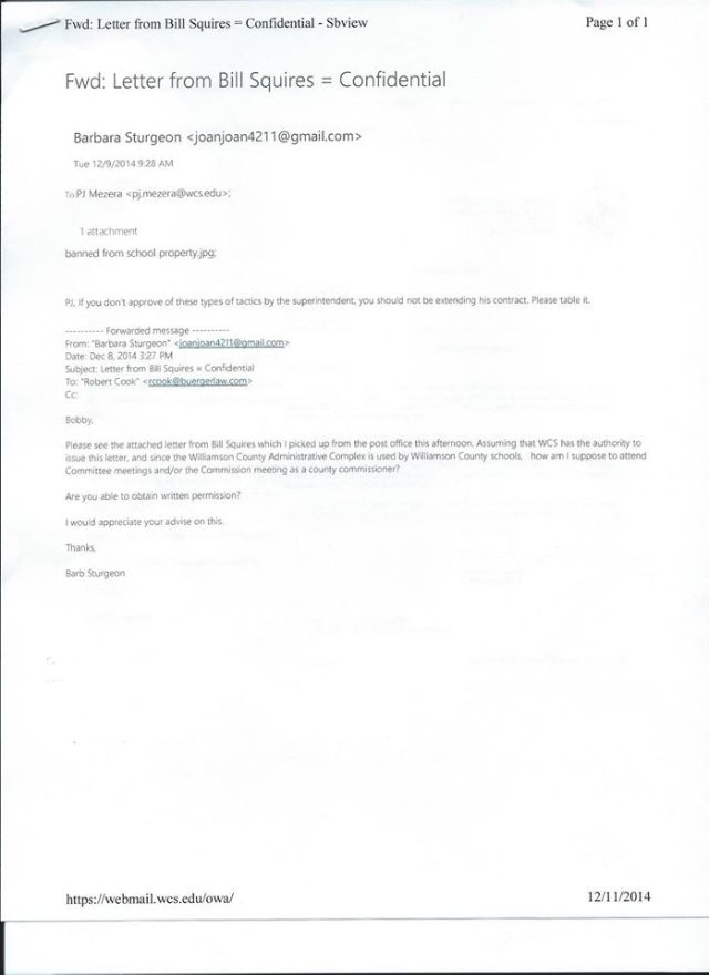 BW to PJM letter re Looney and banning
