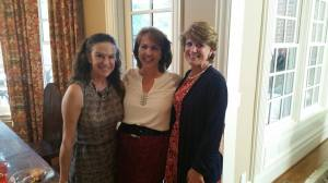 (l. to r.) Candy Emerson, Barb Sturgeon, and Susan Curlee at campaign event.